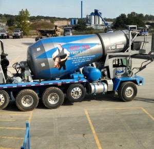 Swingshift cement mixer